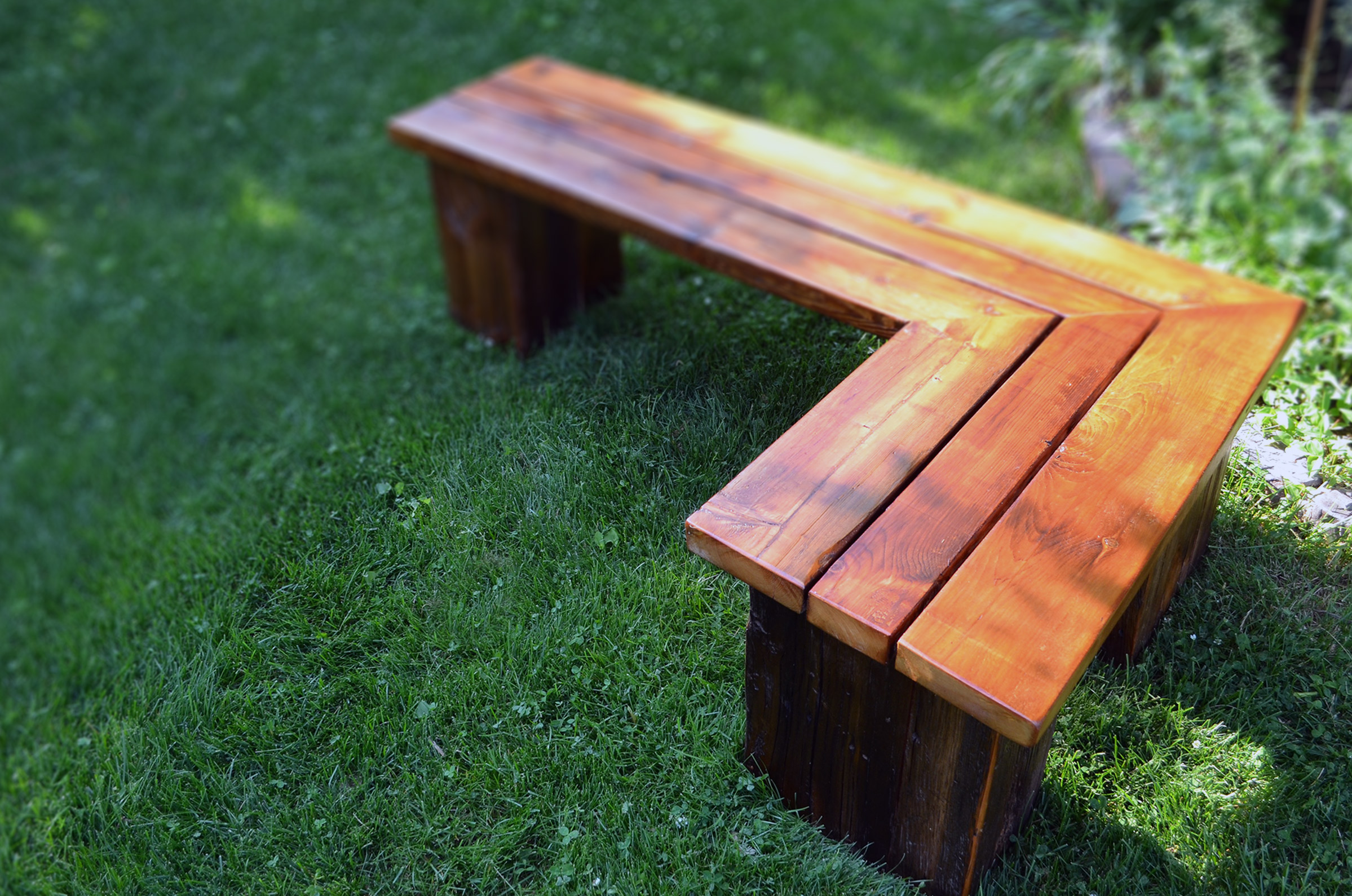 Rustic Outdoor Wood Bench - Outdrbnch5wv