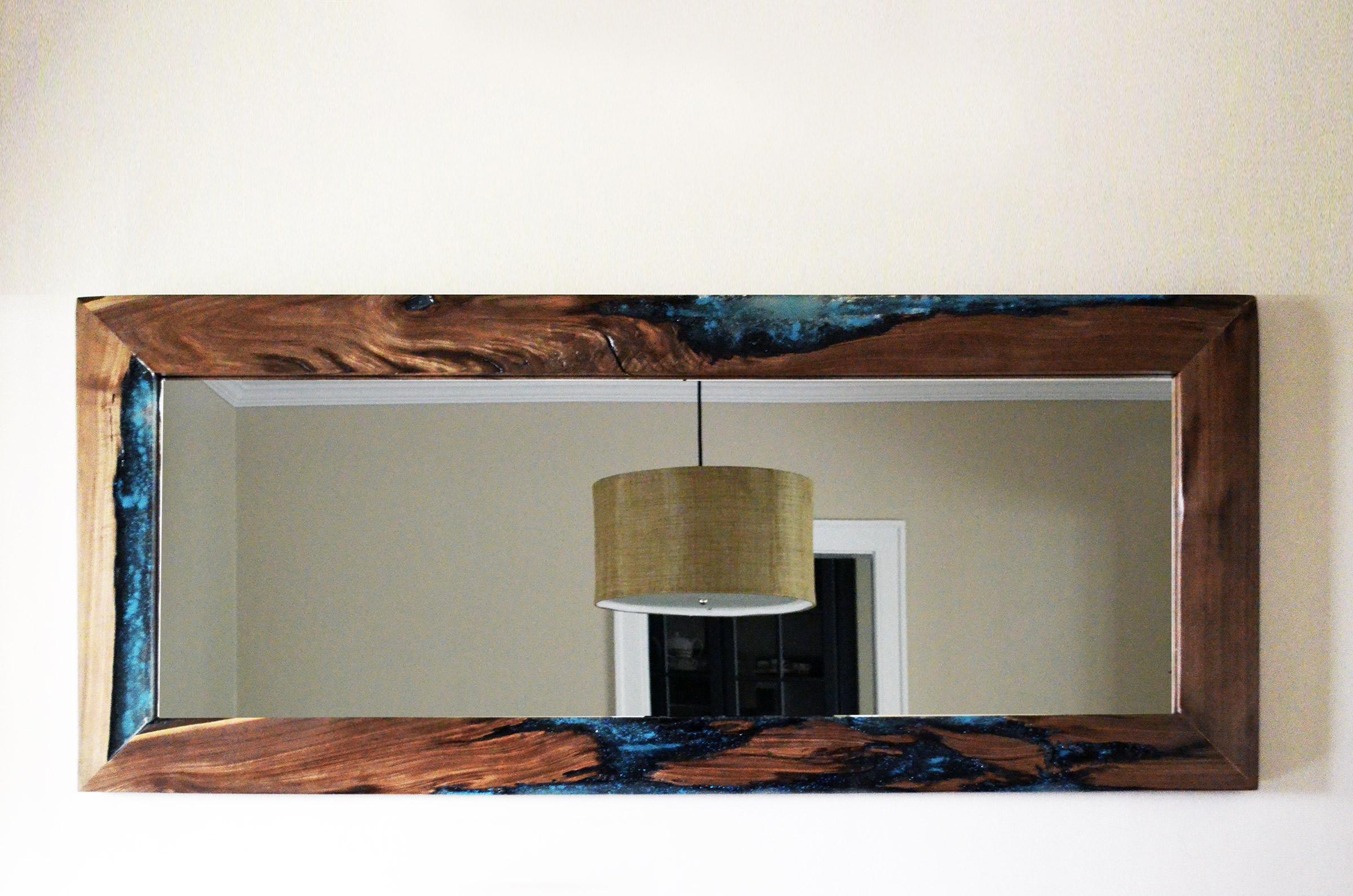 Bathroom vanity wall cabinet - Live Edge Walnut Mirror Large Abodeacious