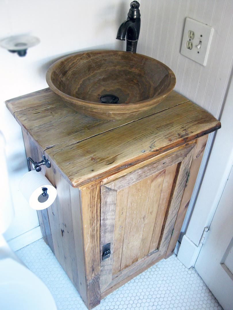 Rustic Wood Bathroom Sink Vanity Abodeacious