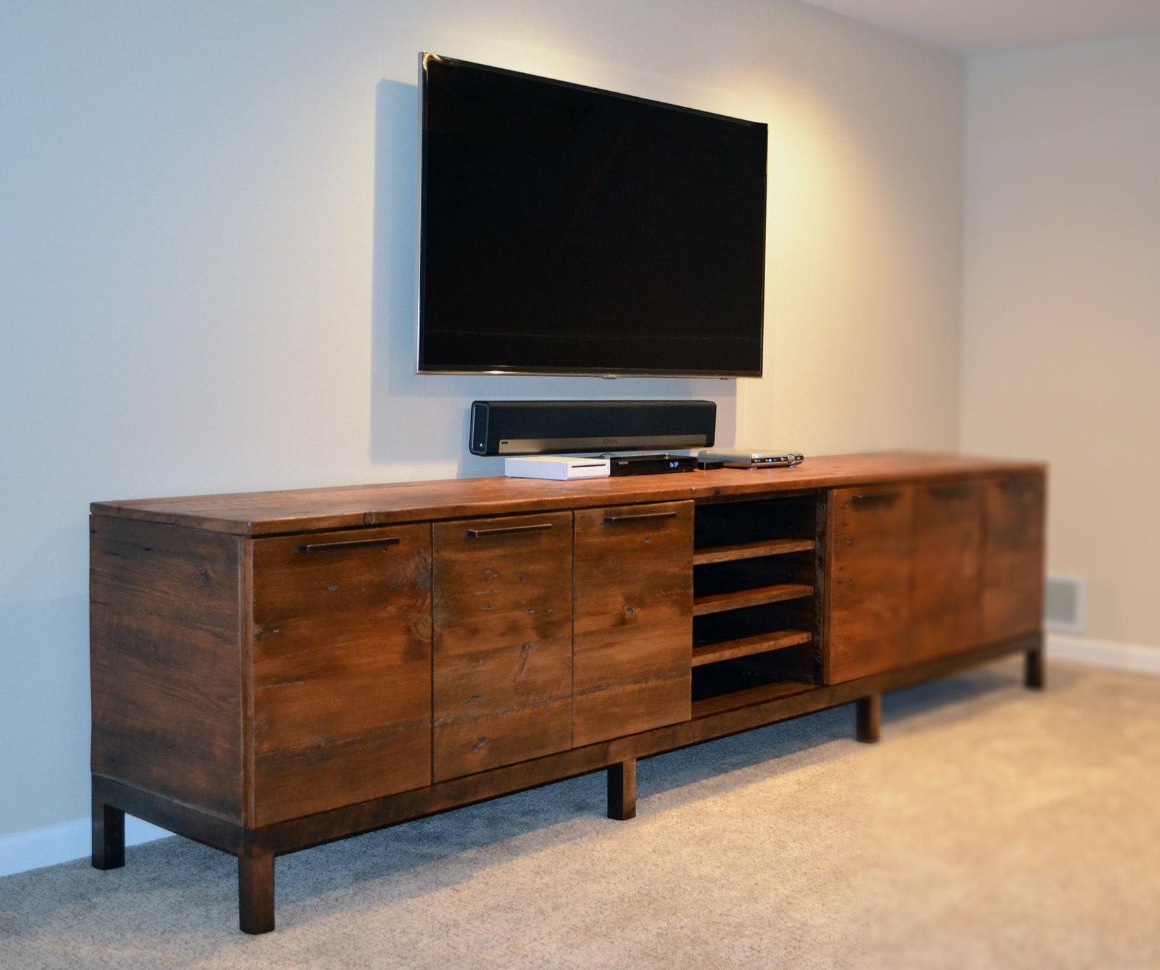 Reclaimed Wood Media Center Console Abodeacious