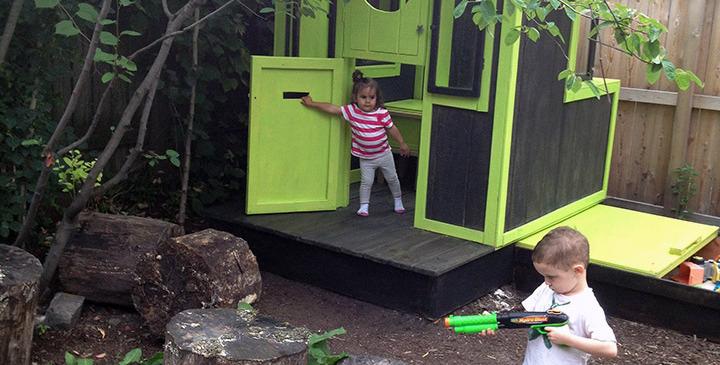 Custom designed modern playhouse