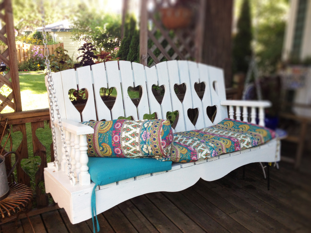 Custom Designed Antiqued Porch Swing Abodeacious