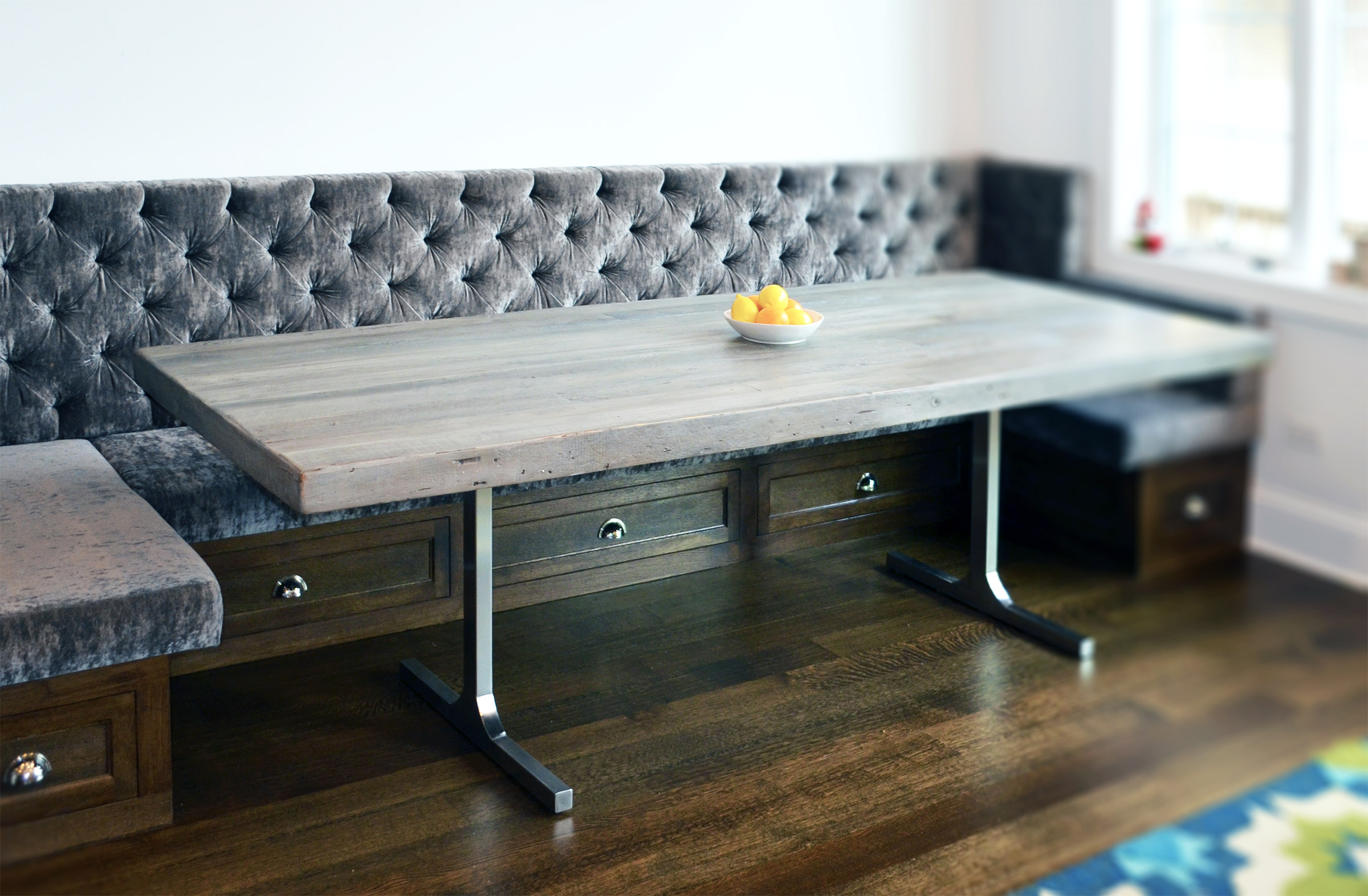 Grey rustic/modern dining table | Abodeacious