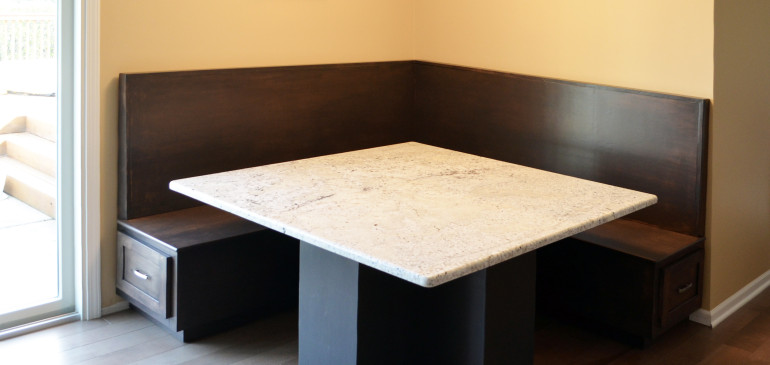Modern breakfast nook and table base