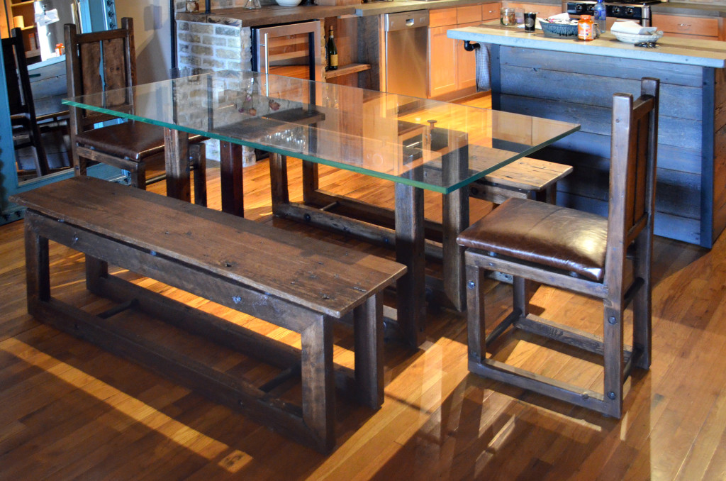 Industrial Dining Table Set Abodeacious