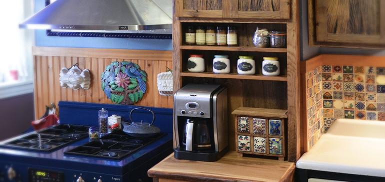 Rustic spice cabinet