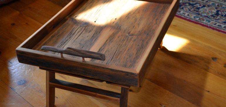 Rustic breakfast tray