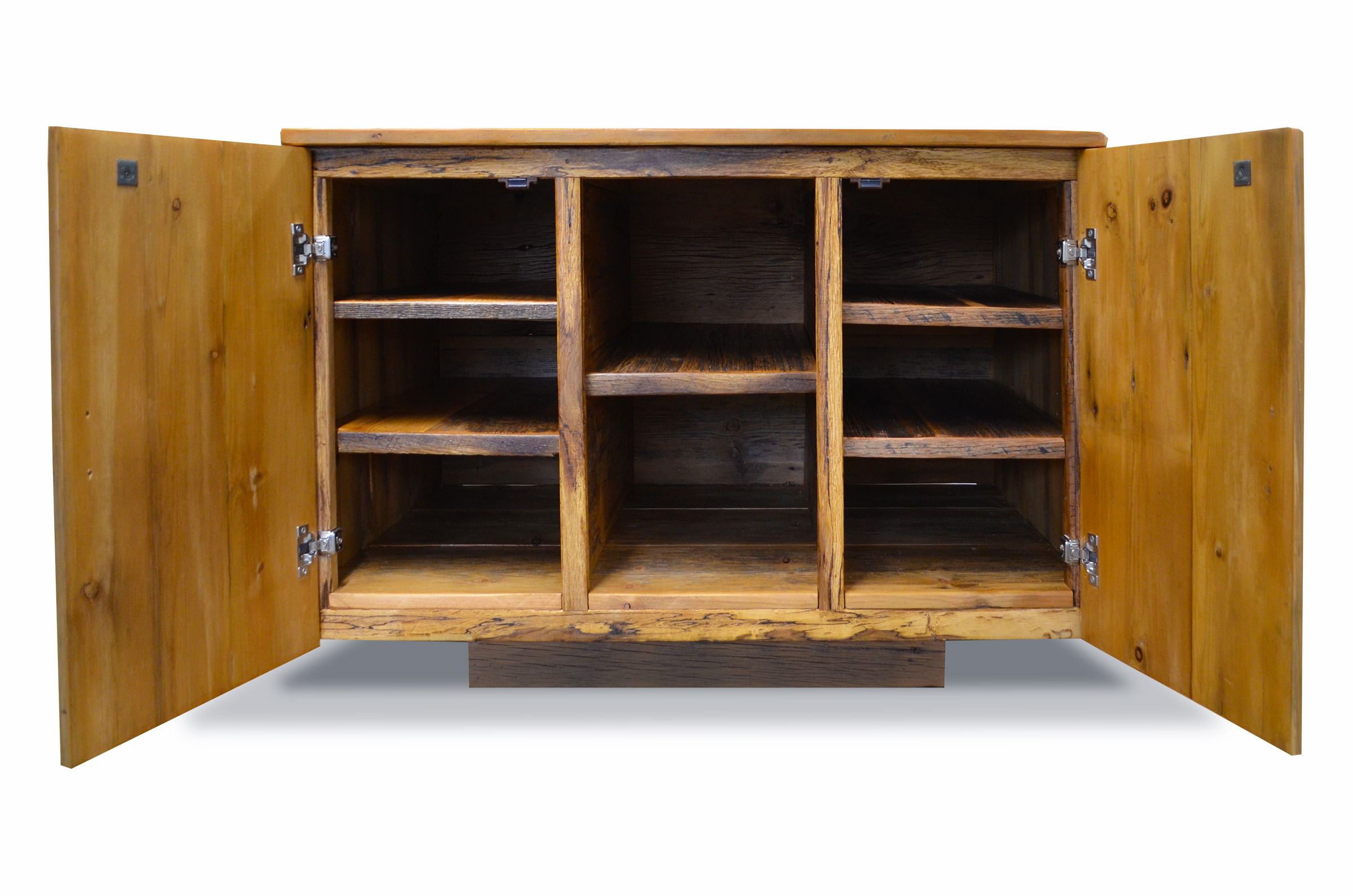 Rustic Reclaimed Wood Media Cabinet Abodeacious