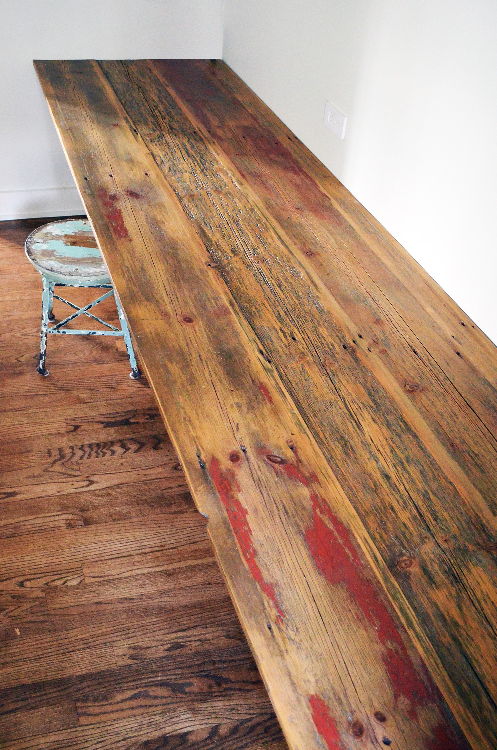 rustic wood desk top and cabinet abodeacious