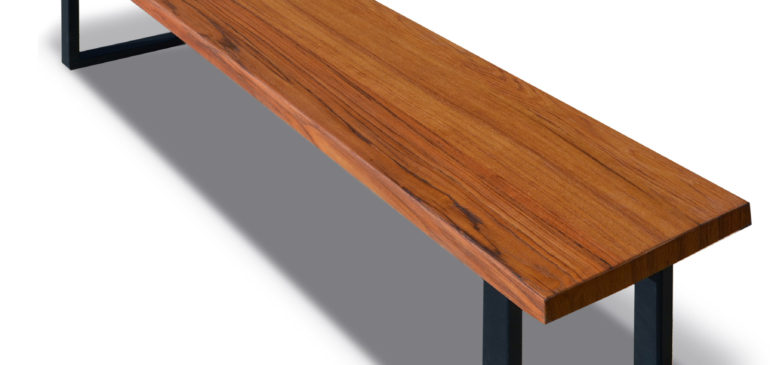 Exotic wood dining benches